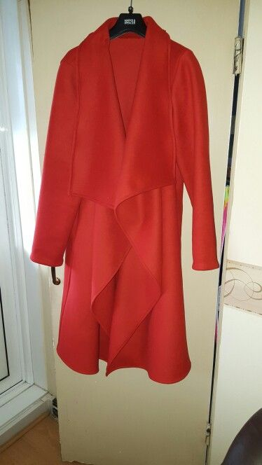 Made by me another in red thick wool. Butterick B6244. Love the colour. Can't wait for the cold weather in London,UK