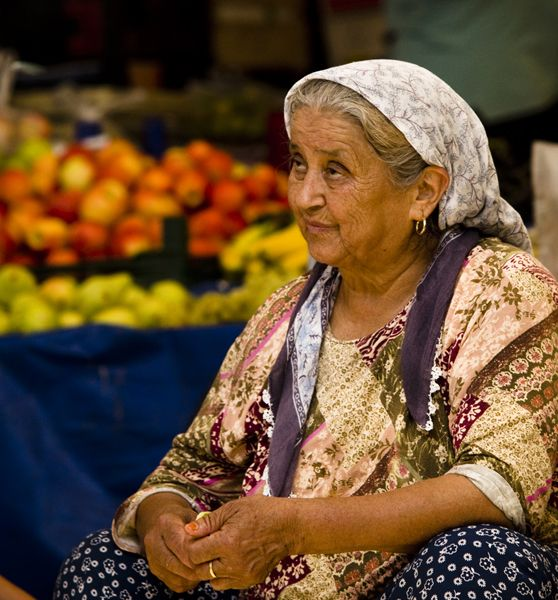 Woman in market, Turgutreis, Bodrum Peninsula