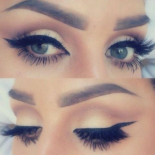 Pretty Eyes Makeup, winged eyeliner, eyelashes, wedding look