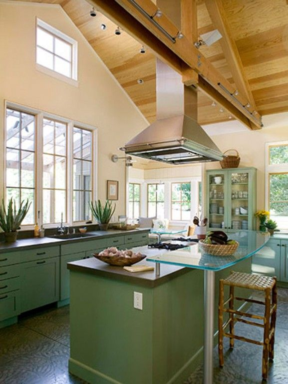 Pictures of kitchen ceilings modern kitchen design for Cathedral ceiling kitchen designs