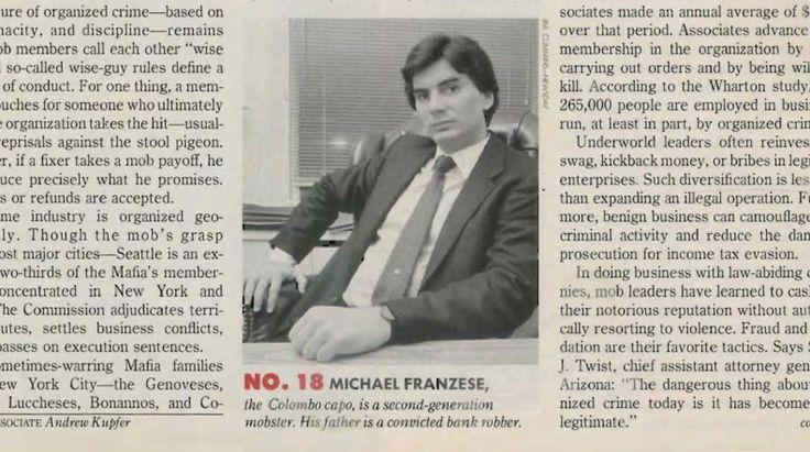 Colombo 1980s capo Michael Franzese in a Fortune Magazine 1986 article.