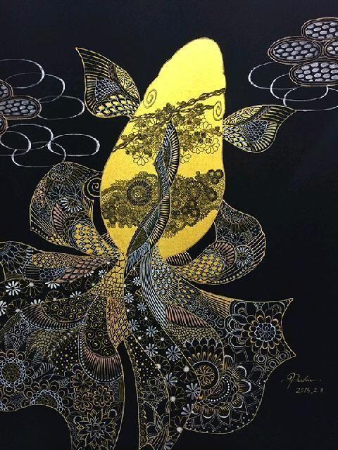 金色の金魚|黒い金魚と白い象                                                       …
