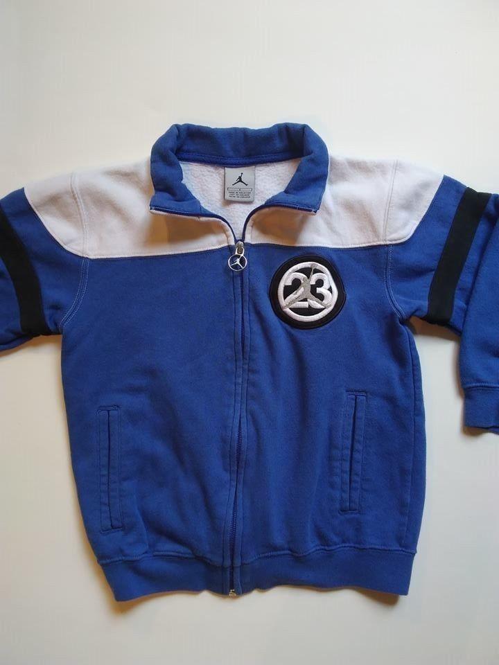 fa51a46619db2c NIKE AIR JORDAN JUMPMAN LOGO boys full zip jacket color blue  white size 6