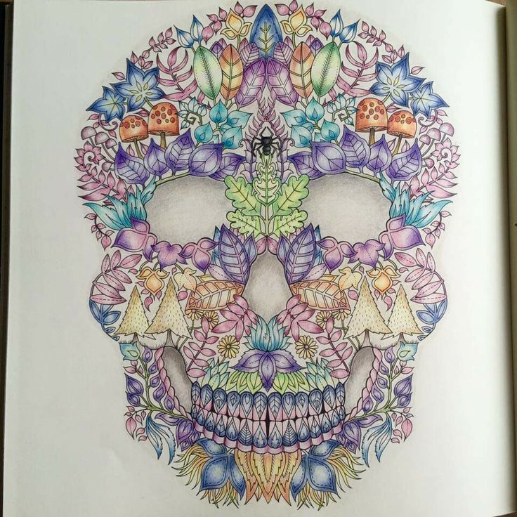 Adult Coloring Pages Colouring Books Forest Pictures Johanna Basford Skull Forests