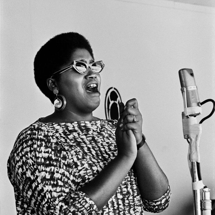 Odetta photographed at Monterey Jazz Festival in Monterey, CA September 4, 1960