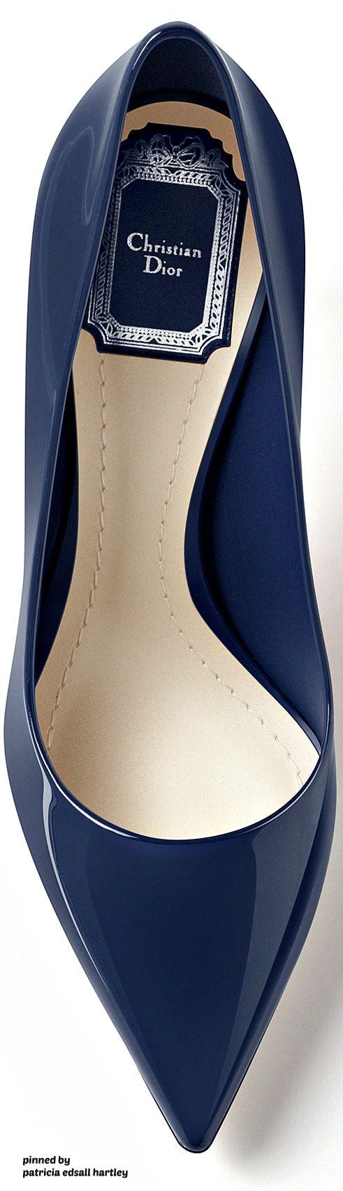 Dior Navy Blue Patent Calfskin Pump 2016