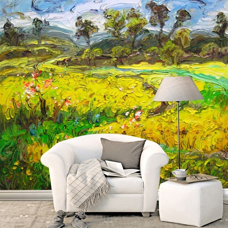 15.00$  Watch now - http://alidp7.shopchina.info/1/go.php?t=32723086924 - Customized 3D Wallpaper for Walls Modern Oil Painting Style Natural Scenery for TV Background Livingroom Large Mural Wall Paper  #shopstyle