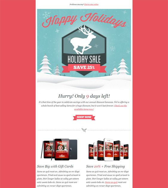 Best More Of The Best ChristmasHoliday Email Templates Images