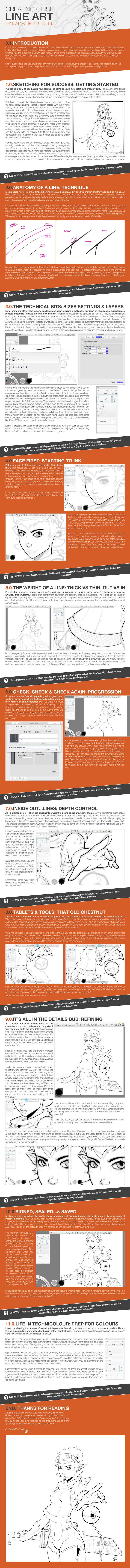 Tutorial: Creating Crisp Line Art by EzJedi.deviantart.com on @DeviantArt