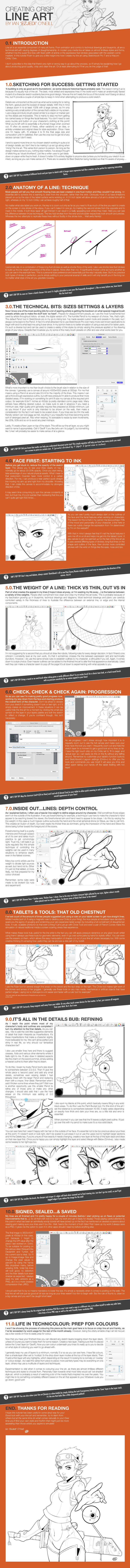 Tutorial: Creating Crisp Line Art by EzJedi.deviantart.com on @DeviantArt