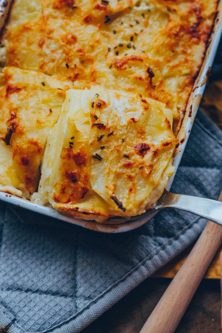 Kartoffelgratin (vegan)   – Fitness-Food & Recipes (gesund & vegan)