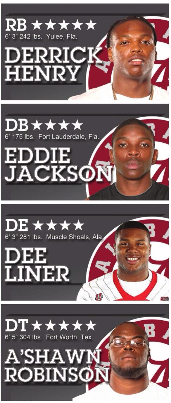 Alabama's 2012 Recruiting Class was #1, which included Heisman Trophy winner…