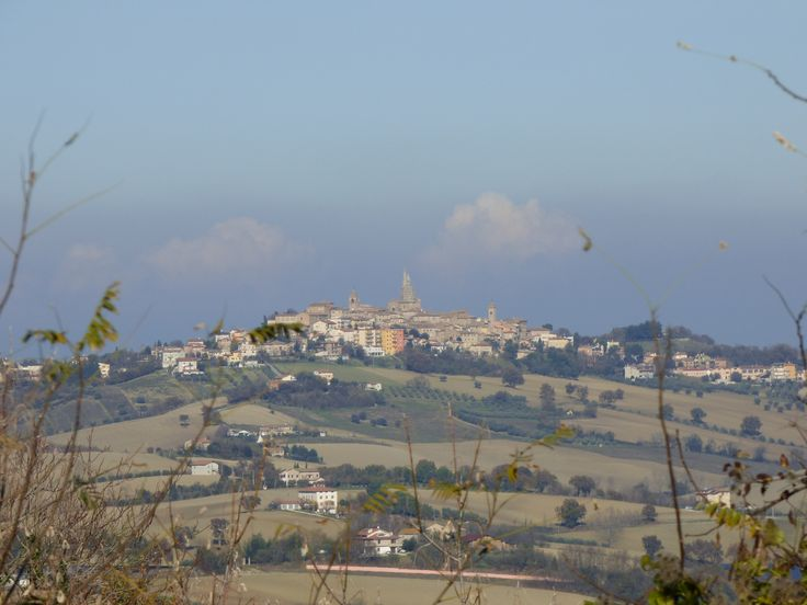 View from the town of Serra de' Conti. A beautiful countryside and lovely hills sorrounds the fortress.