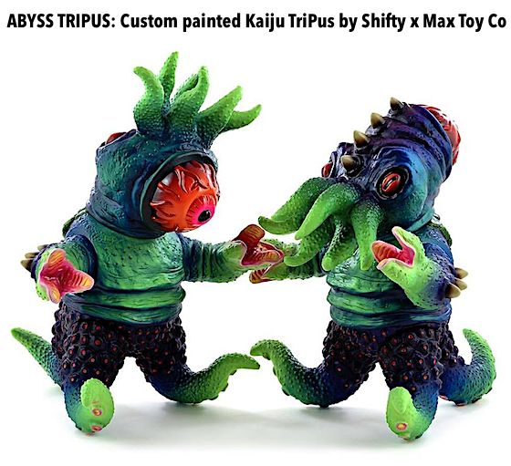 TOYSREVIL: ABYSS TRIPUS: Custom painted Kaiju TriPus by Shifty x Max Toy Co
