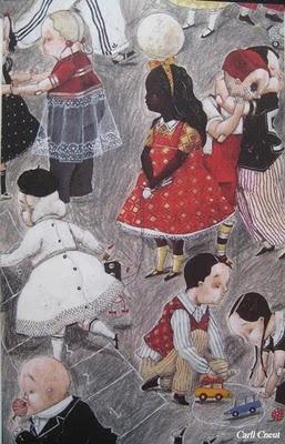 """illustration de Carll CNEUT, extraite du livre """"Pagaille"""" d' Edward VAN DER VENDEL"""