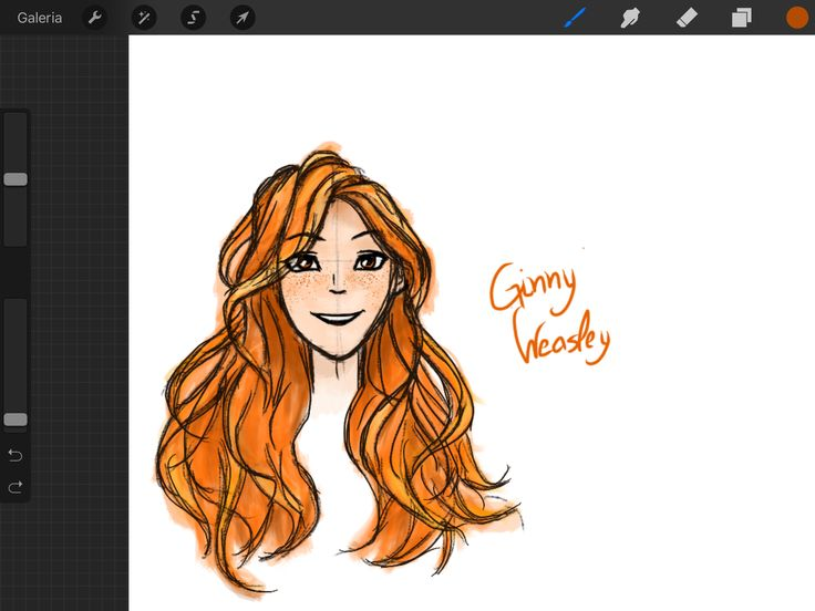 Ginny Weasley as I imagined while reading the books :)  Digitally made