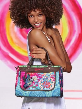 New Desigual bag from the Spring-summer 2014 collection, availble soon at angelvancouver.com