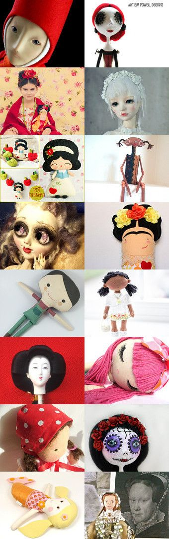 Combing the Doll! by Patricia Stockebrand on Etsy