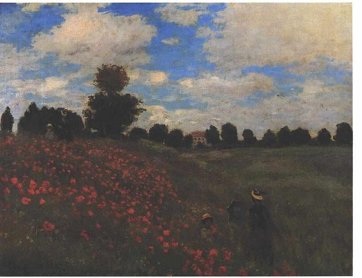 Monet - Mondfeld bei Argenteuil  Red poppy field at Argenteuil