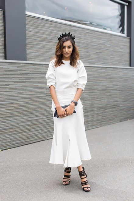 Best dressed from Derby Day 2014 in Melbourne :: Elle Magazine Silhouette | Length | Block Colour | Sleeves