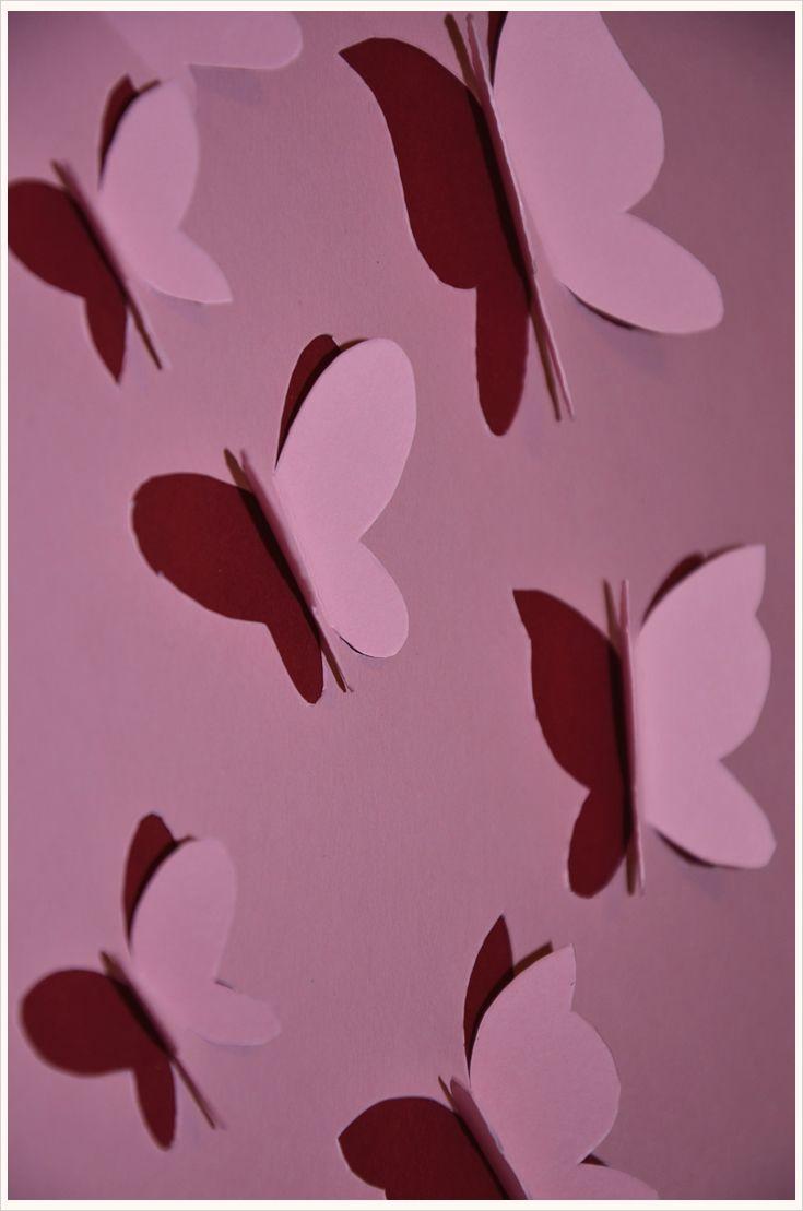 10 besten papierdeko bilder auf pinterest schmetterlinge basteln mit kindern und bastelei. Black Bedroom Furniture Sets. Home Design Ideas
