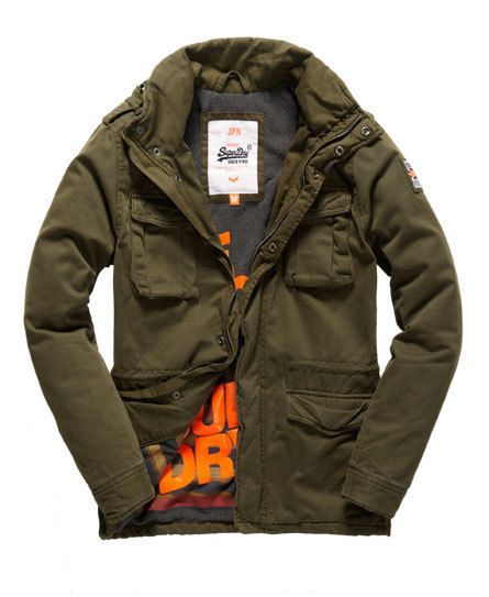 BNWT Superdry Mens Winter Rookie Jacket Dark Army SMALL S - RRP £79.99 NEW
