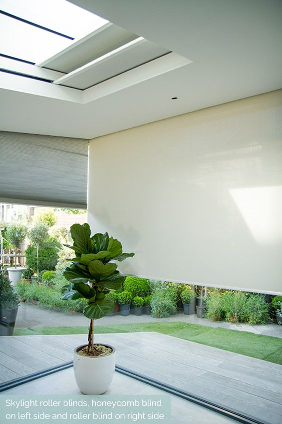 Concealed blinds in skylights, window and gable window. Concealed roller blind, zip-blind and honeycomb blind. All concealed in Blindspace boxes.  #Shades #Hidden #Blindspace