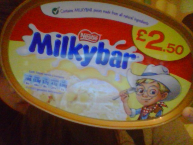 THE MILKYBAR KID IS STRONG AND TOUGH