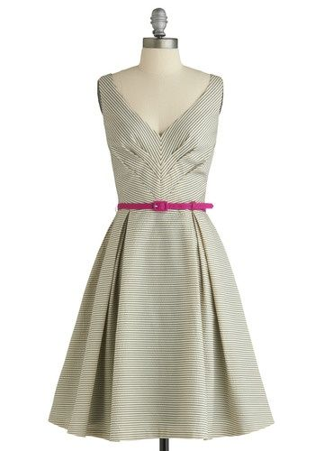 Beautiful dart manipulation - chevron effects on bodice of dress.