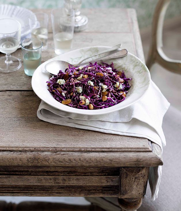 Australian Gourmet Traveller Italian recipe for red cabbage and hazelnut salad by Divido restaurant in Perth.