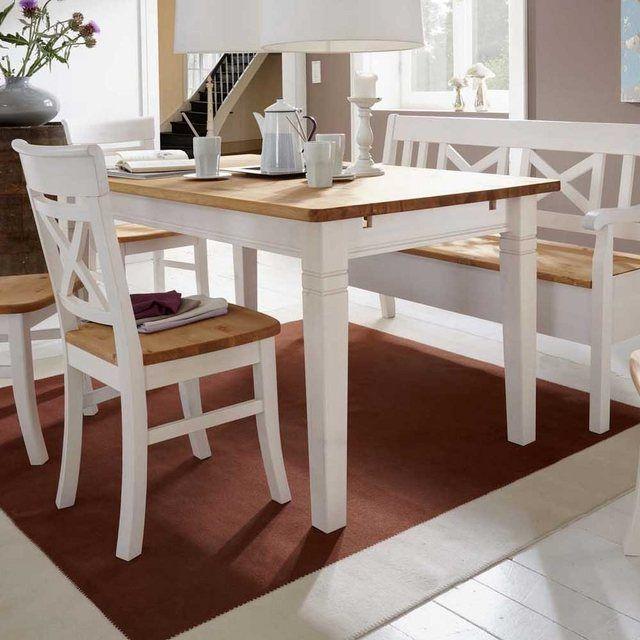 Pharao24 Tisch Cranos Aus Massivholz Essenstisch Mit 4 Fussgestell Online Kaufen Kuchentisch Und Stuhle Esszimmertisch Kuche Tisch