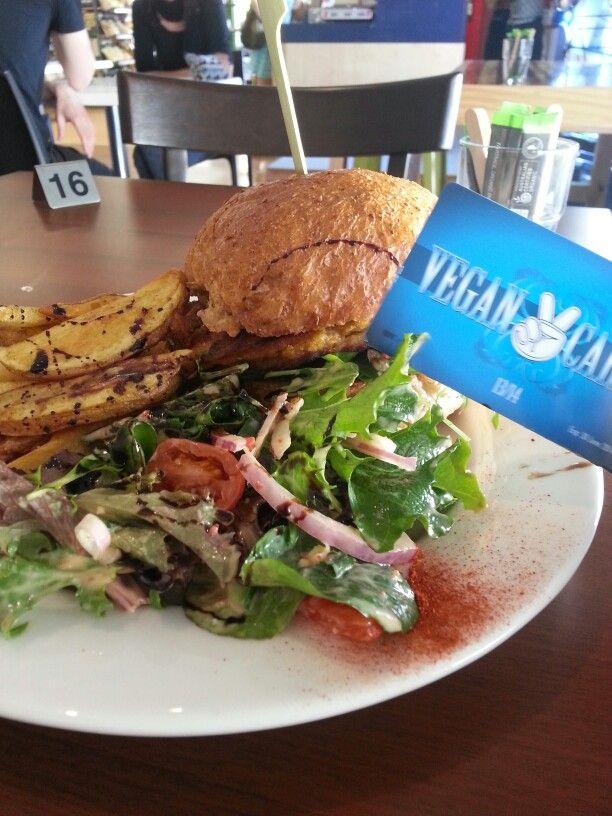 Vegan card feast at the amazing Green Edge in Brisbane QLD Australia