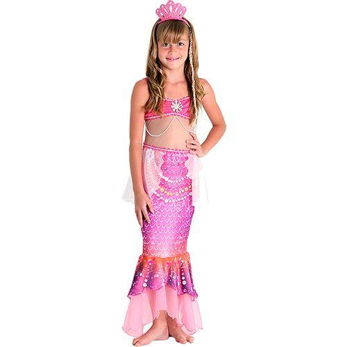 Fantasia Infantil Barbie Sereia das Pérolas Luxo - Sulamericana Fantasias