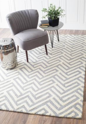 Tuscan Geometric Lattice VS74 Grey Rug | Contemporary Rugs #RugsUSA