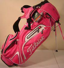 New Titleist Lightweight Golf Stand Bag Pink, love...