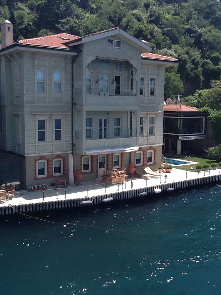 A Waterfront Mansion at The Bosphorus Water Strait, Istanbul, Turkey.
