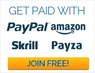 Make money Online with Paid surveys and Cash Offers. New Surveys available daily. Fast Payments via PayPal, payza & Skrill.