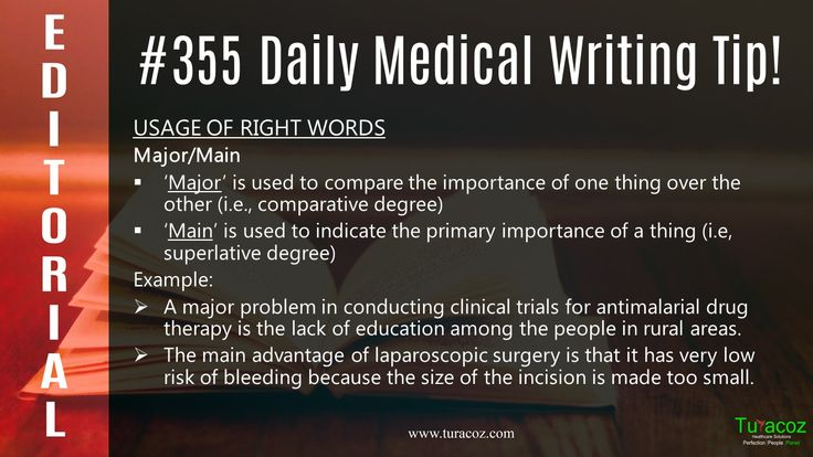 #TuracozHealthcareSolutions updates the correct usage of words #Major and #Main in #PublicationWriting.