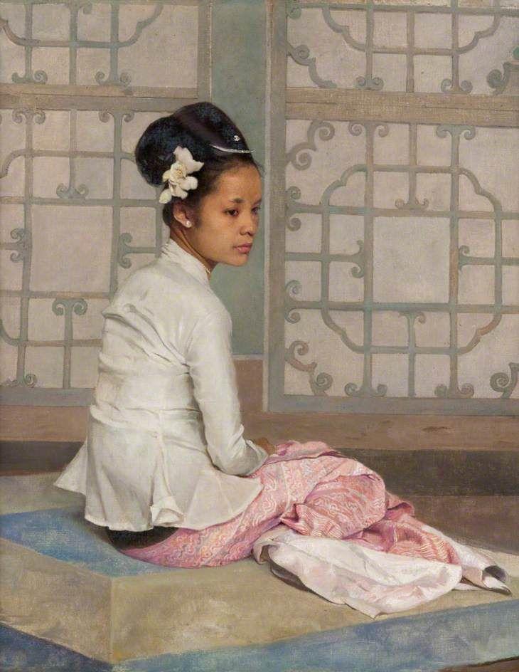 Saw Ohn Nyun, Princess of Burma by Gerald Kelly (1879-1972)