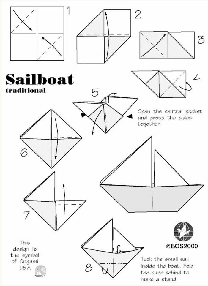 1001 mod les d 39 origami faciles pour apprendre comment faire un bateau en papier diy. Black Bedroom Furniture Sets. Home Design Ideas
