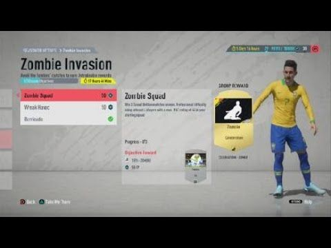 Best Players You Need For The Fifa 20 Zombie Invasion Objectives How To Complete The Zombie Invasion Youtube Fifa 20 Best Player Fifa