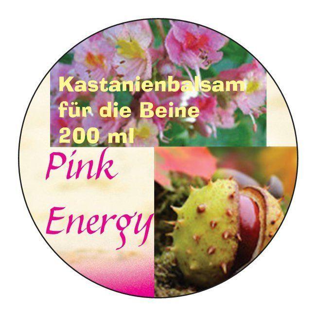 Pink Energy, müde schwere Beine? Krampfadern? venöse Schwäche? Kastanienbalsam