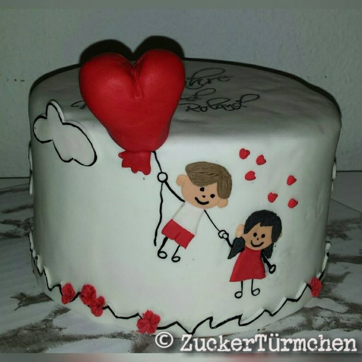 Motivtorte Liebe cake love heart