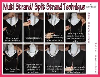 Multi-strand split-strand techniqueMulti Strand Split Strand, Premier Style, Strand Techniques, Multistrand Necklaces, First Design, Premier Ideas, Multi Strand Necklaces, Premier Jewelry, Design Jewelry