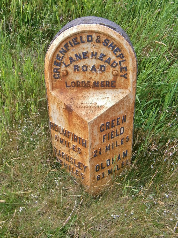 Saddleworth Moor B&B Sign 2 Metres from Guide Stone SE 02084 05628