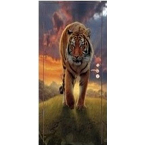 Дверь входная Аэрография Тигр
