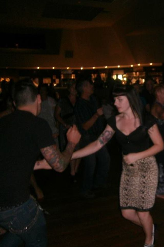 Dancing rock n roll style