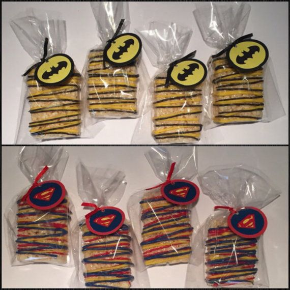 Batman vs superman Rice Krispies treats by SweetsbySmooches