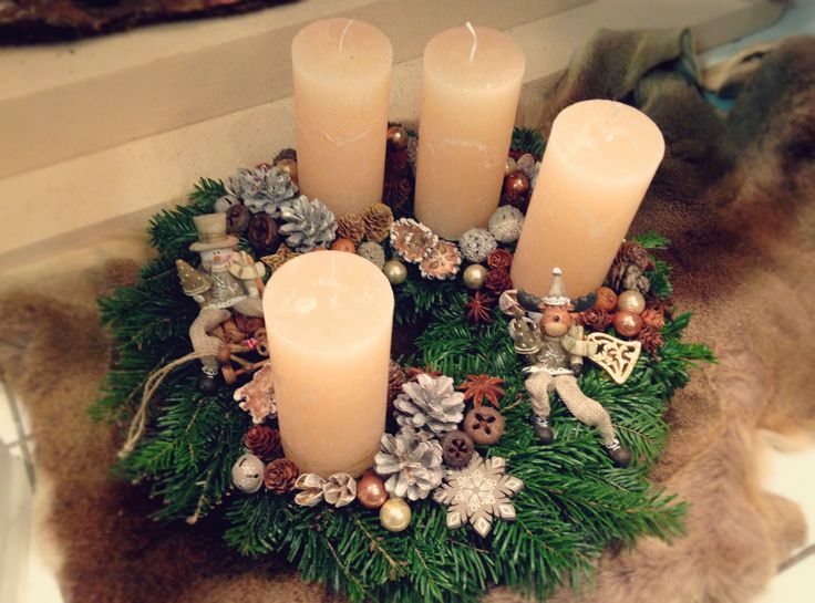 Adventi koszorú. Christmas decoration