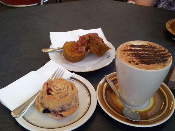 Yummy morning tea @ Organic Cafe, Yandina